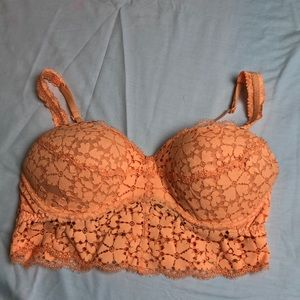 Orange Pink Push up bralette